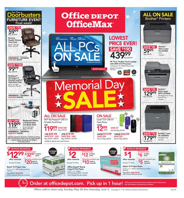 Office Depot / OfficeMax Ad May 28 - June 3, 2017 - http://www.olcatalog.com/office/office-depot-weekly-ad.html