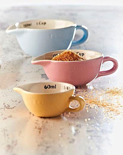 3-piece measuring cup set #pastels #home