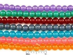 GLASS BEADS ROUND IMITATION JADE 8MM. 32 INCH / STRAND CUENTAS REDONDAS DE CRISTAL IMITACION JADE DE 8MMJ. RISTRA DE 32 PULG. CODIGO: IJ0832
