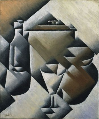 MoMA | The Collection | Juan Gris. Jar, Bottle and Glass. 1911