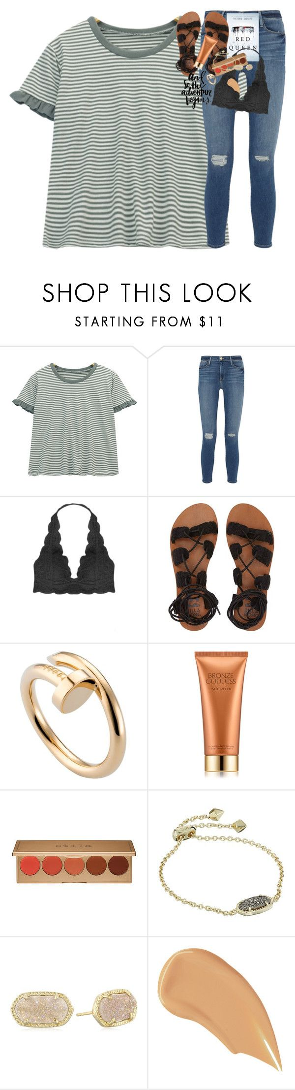 """""""easter break!!!"""" by classynsouthern ❤ liked on Polyvore featuring Chicnova Fashion, Frame, Humble Chic, Billabong, PAM, Cartier, Estée Lauder, Stila, Kendra Scott and NARS Cosmetics"""
