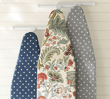 For Pam - Navy with White Polka Dots - Also Foam Ironing Board Pad - PB Ironing Board Covers #potterybarn