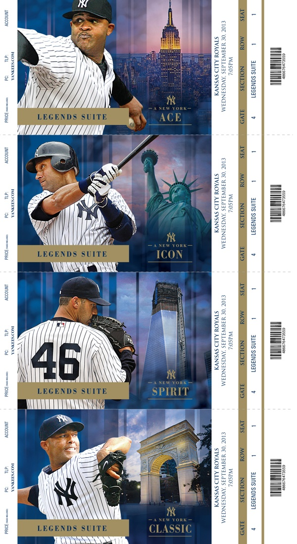 2013 New York Yankees Premium Season Tickets by Justin Wright, via Behance