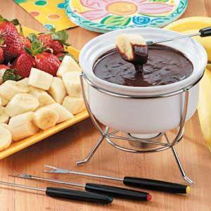 Our favorite fondue | Peanut Butter Chocolate | We dip rice krispie bars in it!