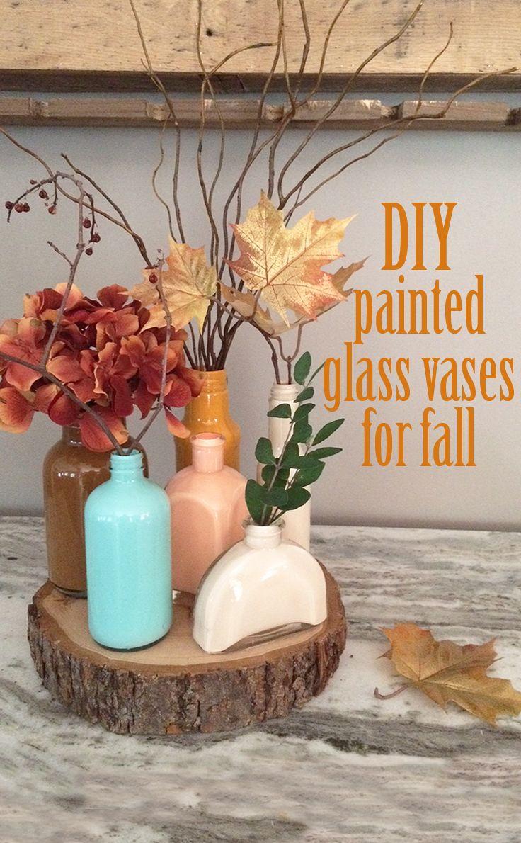 Best 25 painted glass vases ideas on pinterest diy painted diy painted glass vases for fall reviewsmspy