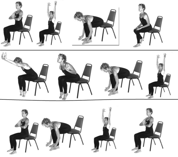 9 best Chair yoga for Seniors images on Pinterest   Chair ...