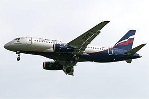 Russia's first passenger aircraft since the fall of the Soviet Union, the Sukhoi Superjet-100