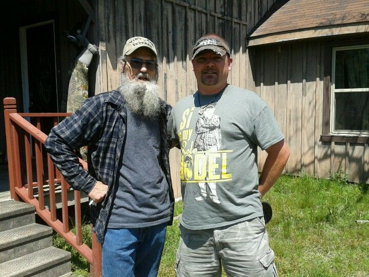 My husband with Uncle Si from Duck Dynasty