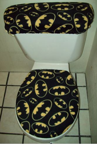 Decked out batman toilet covers!!