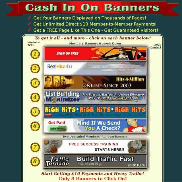 The most effective viral banner-based traffic building  system, bringing thousands upon thousands of real,  qualified, guaranteed visitors that click on your banners  and spend time on your websites. http://cashinonbanners.com/?r=47952