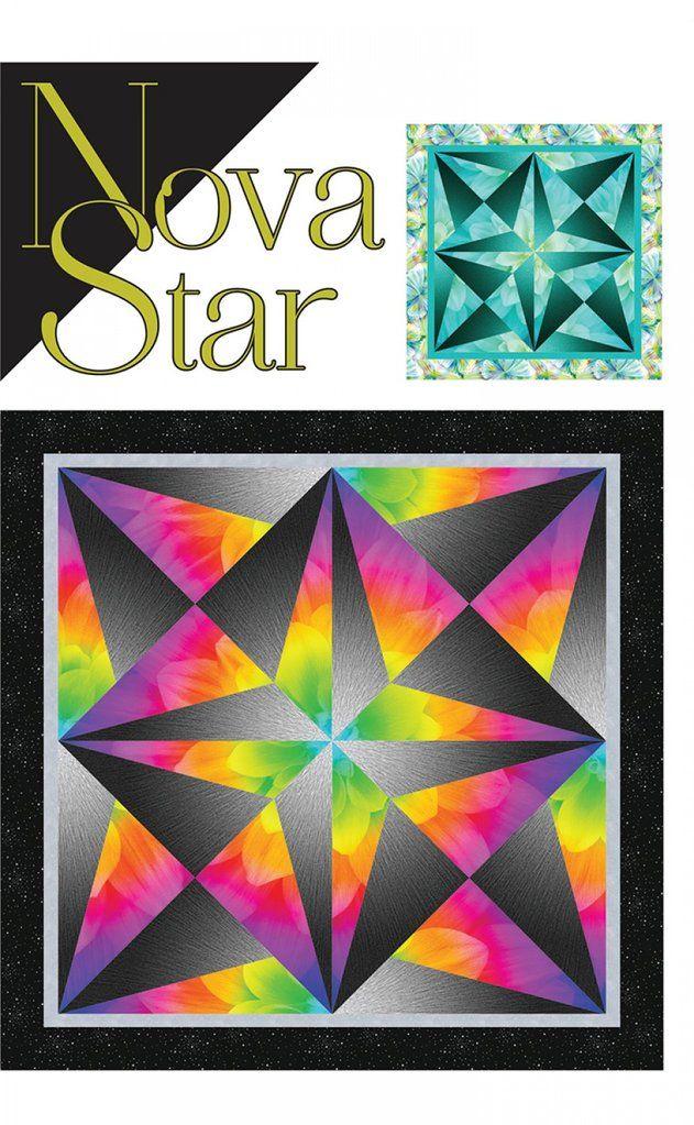 Nova Star | Quilting Ombre Fabric | Star quilt patterns