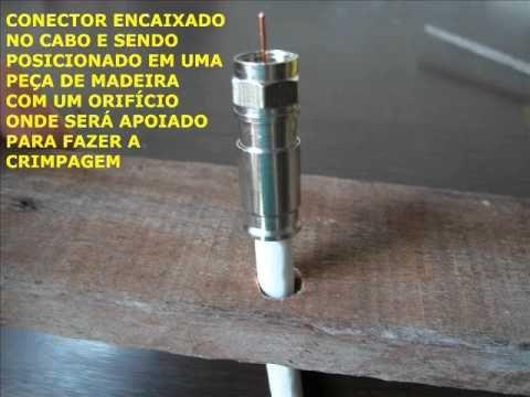 Como crimpar conector coaxial RG6 sem alicate