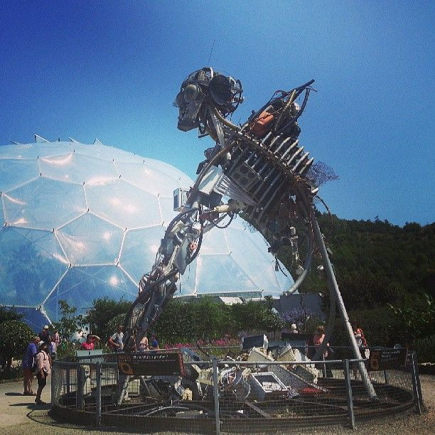 CORNWALL, UK: EDEN PROJECT. Nestled into the beautiful Cornish countryside, The Eden Project is an eco education centre featuring temperate & tropical bio-domes alongside cafe's, gardens and stages. Great for the family if you're in Cornwall.