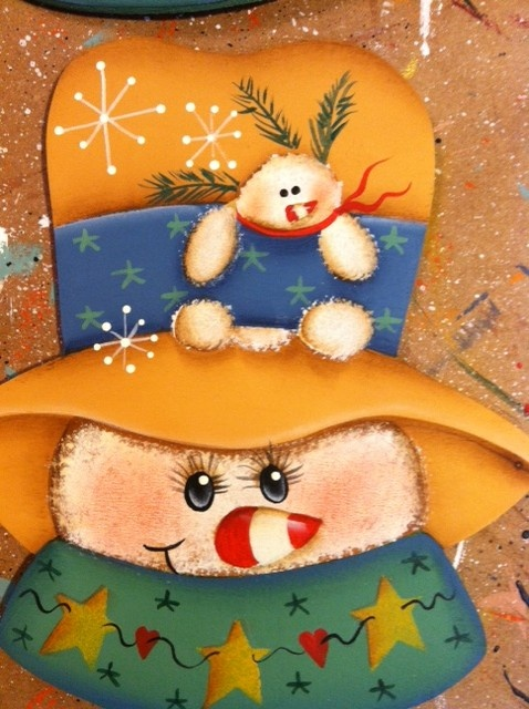 Snowman painted by ME!  www.facebook.com/squarenailcrafts