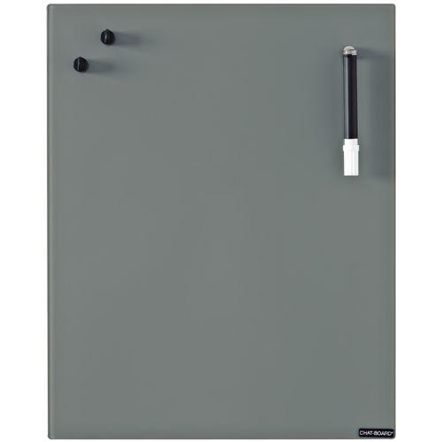 Tableau magnétique en verre gris foncé (2 tailles) Chat-Board