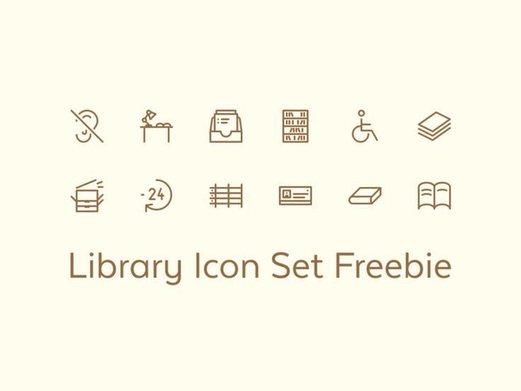 Free Library Icon Set Icons AI Free Graphic Design Icon Library Outline PSD Resource Vector