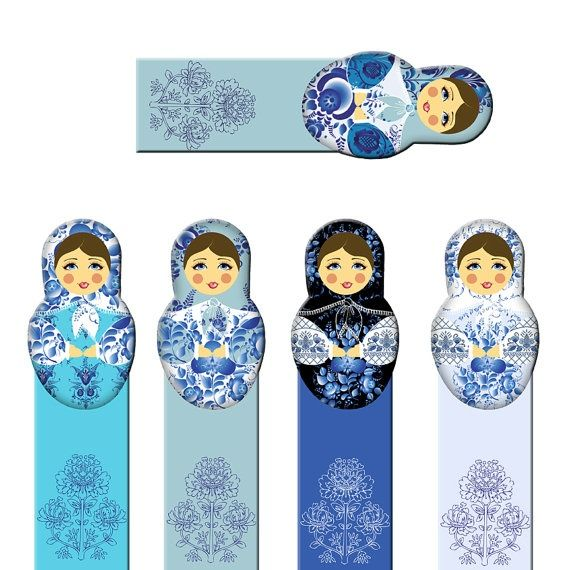 Image result for russian doll bookmark