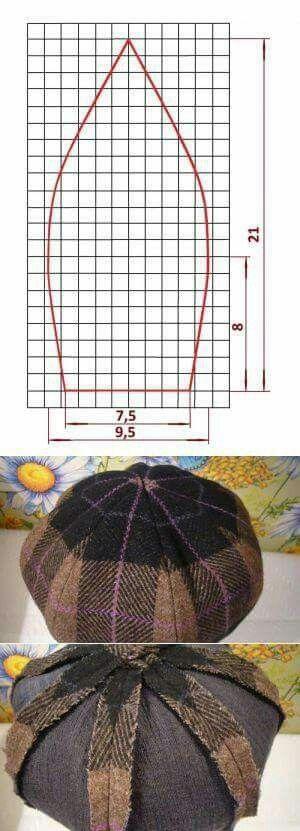 gorra en gajos