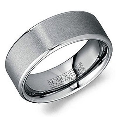 Mens Tungsten Carbide Plain Ring