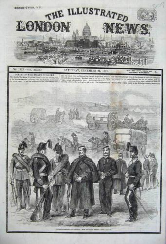 Antique Print of 1861 Reinforcements Canada. The british Empire flexes its muscle over the Trent affair. Prince Albert has avoided war with the US and has just passed away...