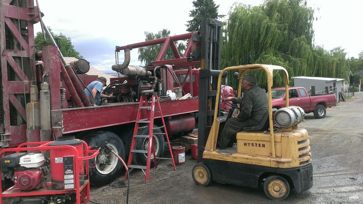 Owners/Operators Gary Lydin & David Oldham Maintenance on drill rig