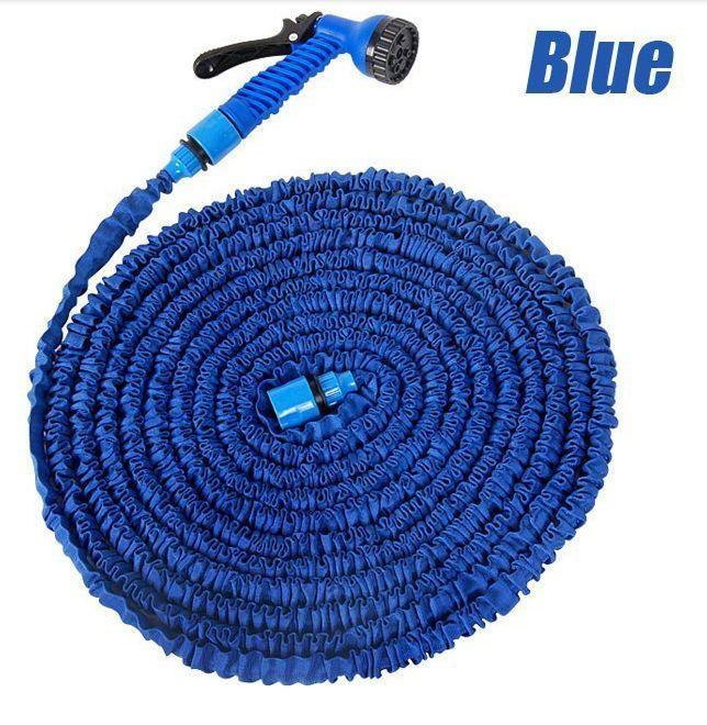 NEW 50FT Expandable Flexible Garden Water hose for Car valve with spray Gun #Unbranded