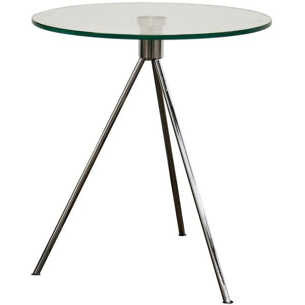 Baxton Studios Triplet Round Glass End Table (Clear) (110 AUD) ❤ Liked