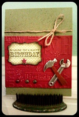 Happy Birthday {for Him} by @Christina Childress Childress & Rivalto Gonzalez with Stampin' Up products.