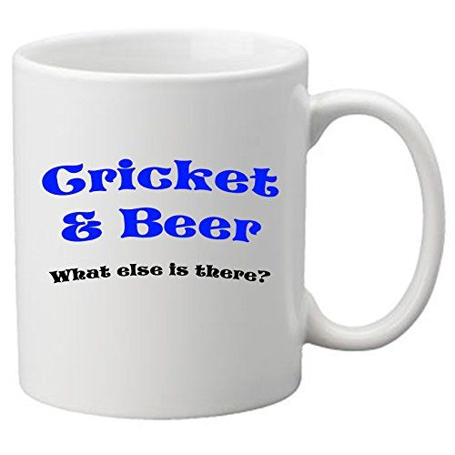 Cricket & Beer. What Else Is There? Perfect Gift For Birthdays Or Christmas. Great Novelty 11Oz Mugs