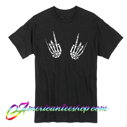 Skeleton Rock Hands T Shirt