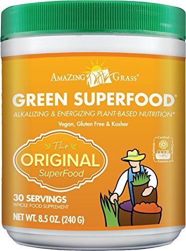 Amazing Grass Green SuperFood Original, 30 Servings, 8.5 Ounces - http://fitness-super-market.com/?product=amazing-grass-green-superfood-original-30-servings-8-5-ounces