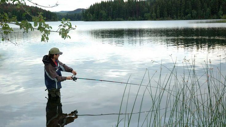 Ловля язя на спиннинг.   Рыбалка на Сибирских озерах озерах.