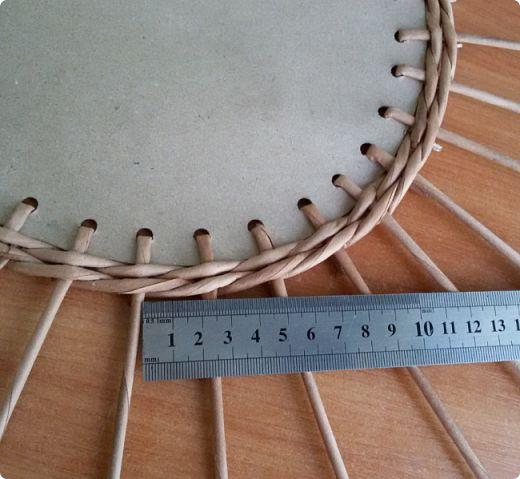 Коса в плетении внутреннего бортика часть 1