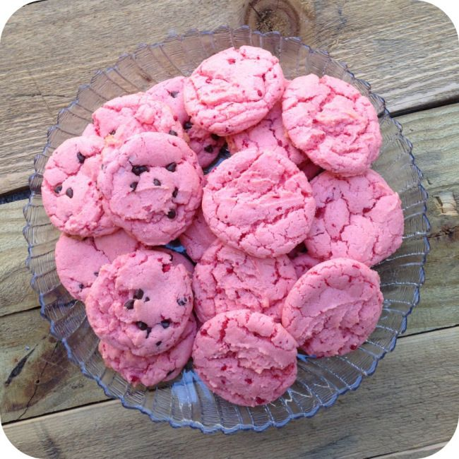 Strawberry Cake Cookies...any flavor cake mix will work!