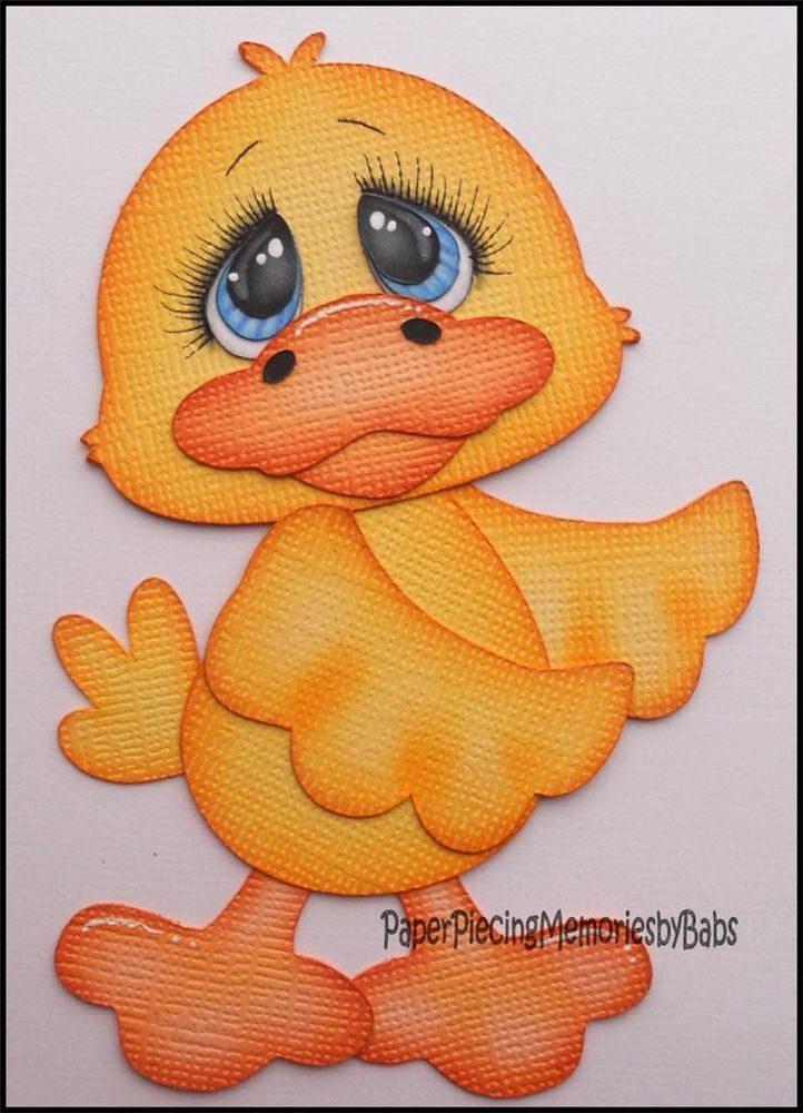 Premade Paper Pieced Duck for Scrapbook Pages -by Babs