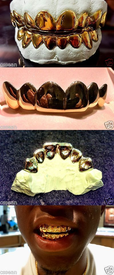 Grillz Dental Grills 152808: 10K Solid Yellow Gold Custom Fit 6Pc Real Grill Grillz Gold Teeth. BUY IT NOW ONLY: $195.0
