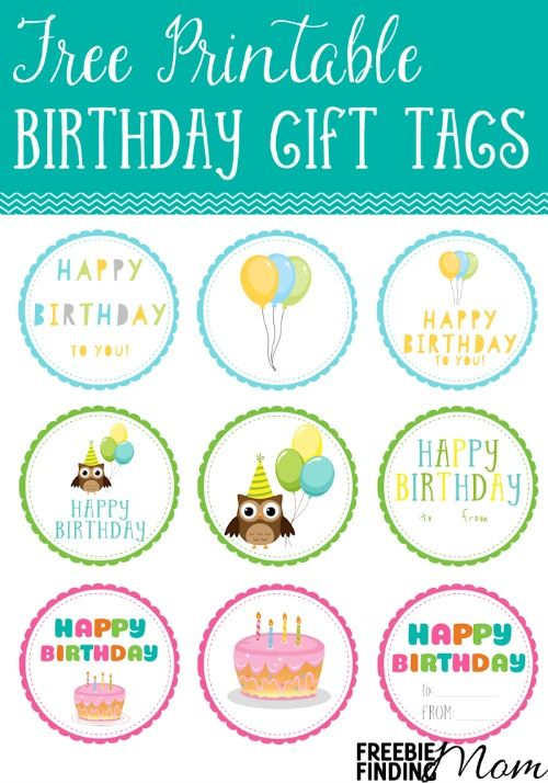 141 best printable gift tags cards images on pinterest useful free printable birthday gift tags negle Image collections