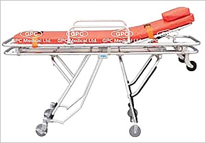GPC Medical Ltd. - Exporter and manufacturer of Ambulance stretcher trolley, automatic ambulance stretcher, foldable emergency stretcher from India.