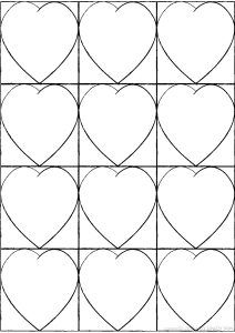 Kandinsky Heart Art Template - Arty Crafty Kids