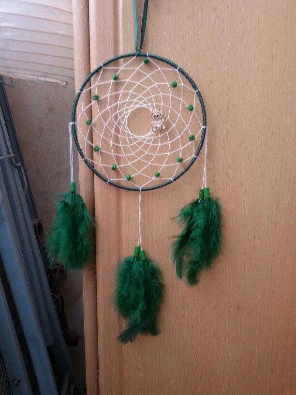 Smaragdzöld álomfogó macival