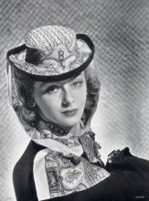 Caroline Reboux 1940  André Durst, Rodier (Fabric)