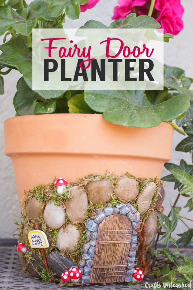 DIY Fairy House Planter Project - Crafts Unleashed