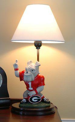 Georgia Bulldogs Painted Mascot Lamp | eBay