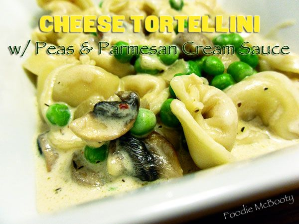 Cheese Tortellini, Mushrooms, Peas, Parmesan, Pasta