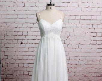 Exquisite Lace Kleid V Form Lace Halsausschnitt von LaceBridal