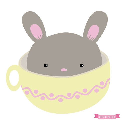 Bunny in a cup! by HUGYMUG
