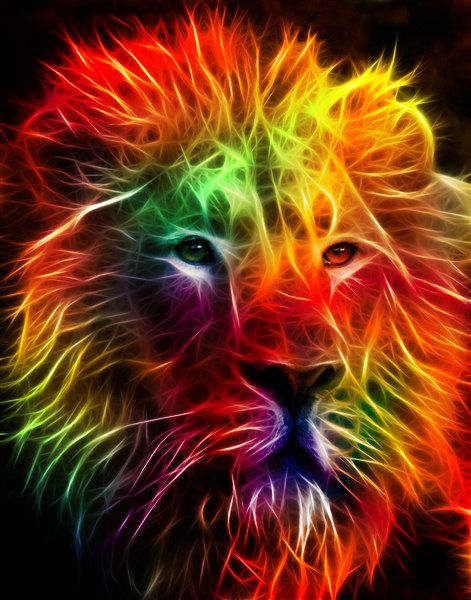 This is a counted cross stitch pattern of a multi-coloured fractal lion. A unique and detailed pattern that will give you a stunning final piece. All