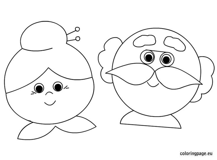 Grandma And Grandpa Coloring Page