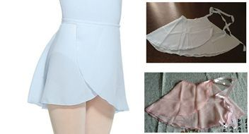 Wrap Around Chiffon Dance Ballet Skirt --pink