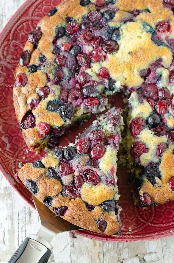 Mixed Berries Buttermilk Cake